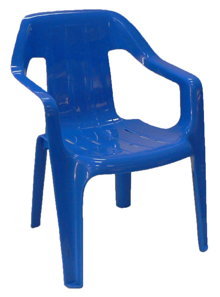 Childrens Plastic Chair - Blue [1024x768]